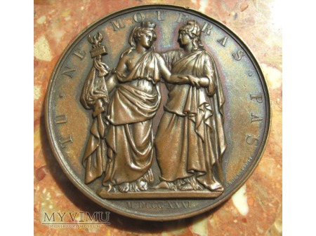 A L'HEROIQUE POLOGNE - medal z 1832 roku.