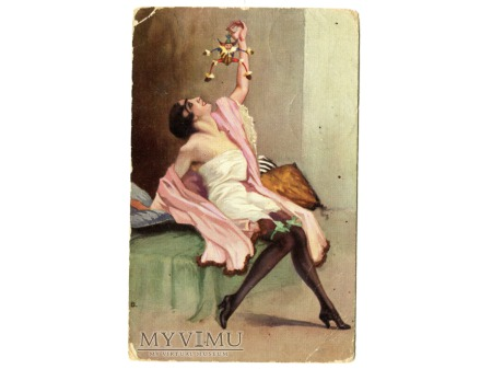 Duże zdjęcie kobieta w negliżu Art Deco MARIONETKA