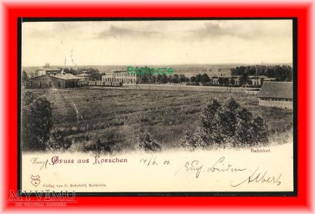 KORSZE Korschen Dworzec kolejowy