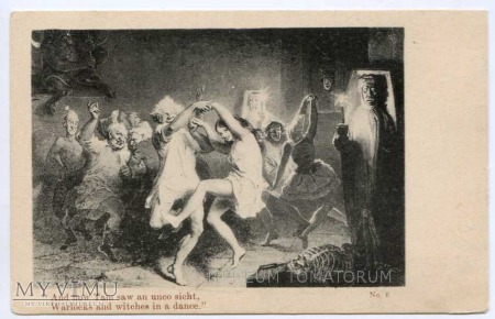 Warlocks and witches in a dance
