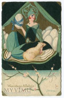 1931 Sofia Chiostri Wielkanoc Art Deco pisanki