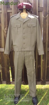 Mundur wz.92 z wiatrówką oficerską 109/MON