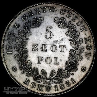 5 zł 1831 Plage 272