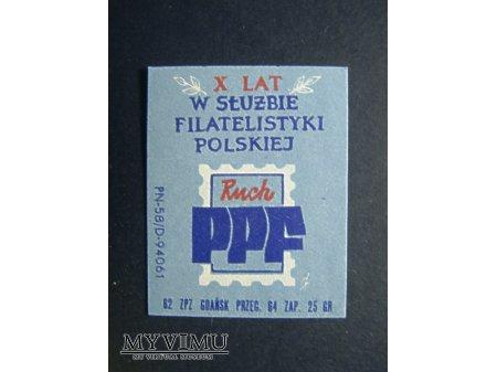 Etykieta - X lat w służbie Filatelistyki Polskiej
