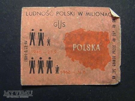 Etykieta - Ludność Polski w milionach