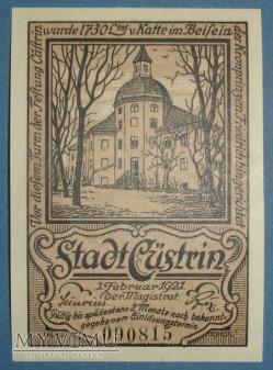 50 Pfennig 1921 r - Cüstrin - Kostrzyn n. Odra
