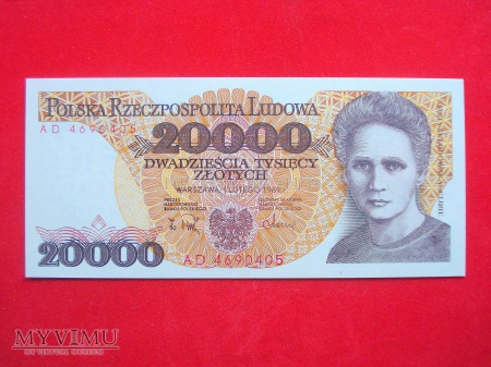 20000 złotych 1989 rok