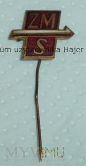 ZMS Związek Młodzieży Socjalistycznej Odznaka