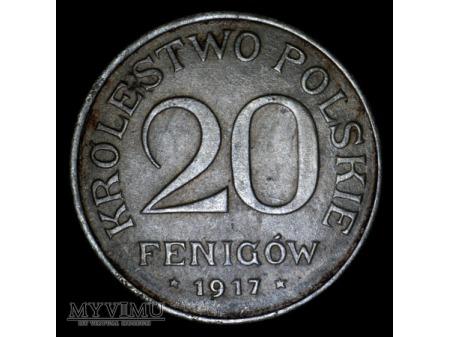 20 fenigow Krolestwo Polskie