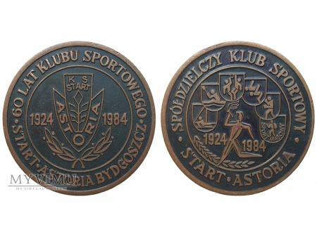 60 lat KS Start Astoria Bydgoszcz medal 1984