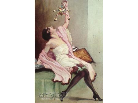 kobieta w negliżu Art Deco MARIONETKA