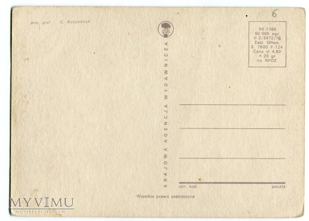 1976 C. Kościelniak pocztówka stylowa z PRL