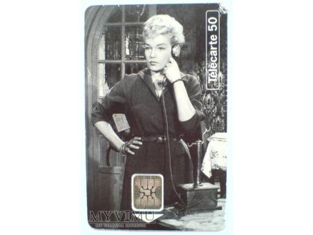Simone Signoret 1954 Karta telefoniczna FRANCJA