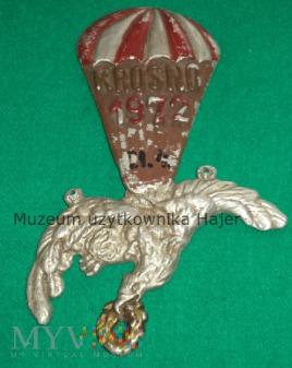 Duże zdjęcie KROSNO 1972 Pamiątka z kursu spadochronowego