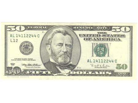 50 USD 1996 FEDERAL RESERVE NOTE