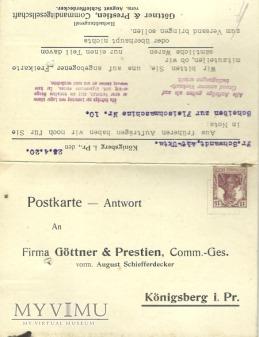 Gottner & Prestien Konigsberg 1920 r.