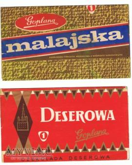 Goplana - dwie czekolady - Deserowa i Malajska.