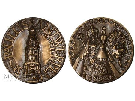 Kościół Św. Pawła w Antwerpii medal brązowy 1980
