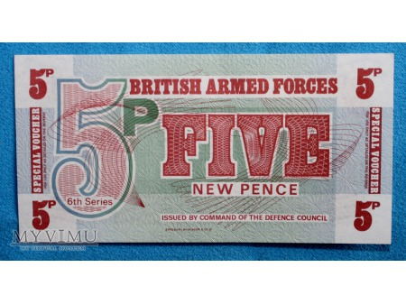 5 New Pence British Armed Forces