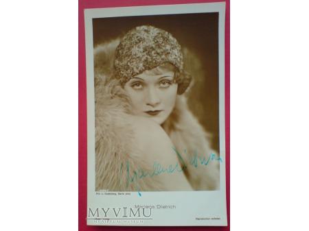 Marlene Dietrich Verlag ROSS 4582/1 Autograf