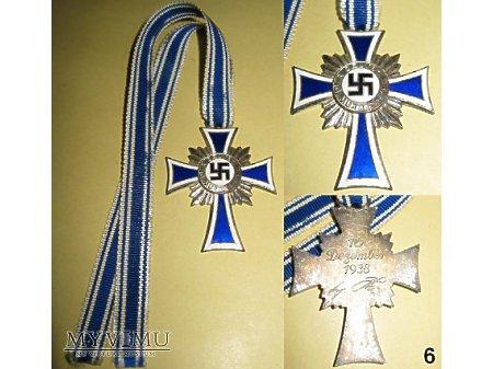 Niemiecki krzyż matek srebrny