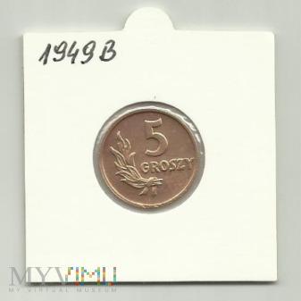 Moneta 5 Groszy 1949