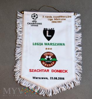 Proporzec Legia Warszawa-Szachtar Donieck 2006