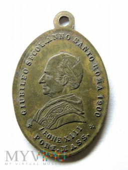 Medalik Leone XIII