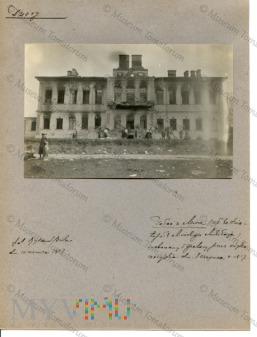 Mir - spalony pałac księcia Mikołaja Mirskiego