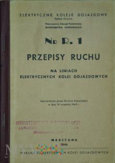 1946 - Nr R. 1 Przepisy ruchu na liniach EKD