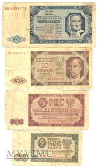2,5,10,20 złotych z 1948 roku.
