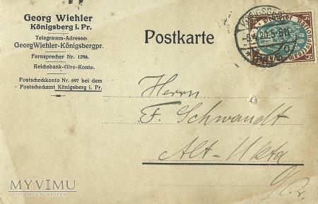 Georg Wiehler Konigsberg 1920 r.