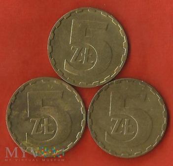Polska 5 złotych,1986/1987/1988