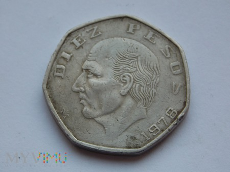 10 PESOS 1978 - MEKSYK