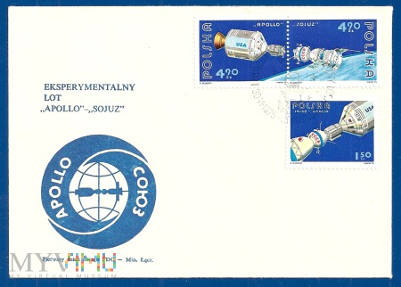 Eksperymentalny lot 'Apollo' - 'Sojuz'.30.6.1975.b