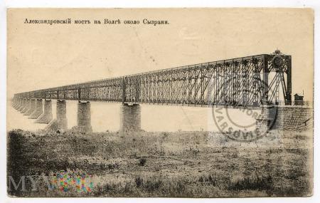 Syzrań - most kolejowy na Wołdze - począt. XX w.