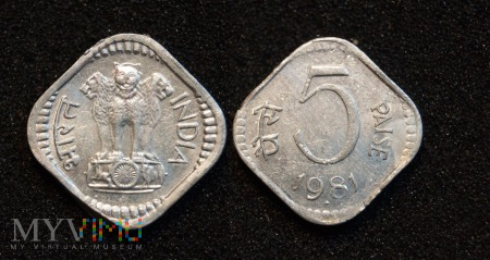 Indie, 5 Paise 1981