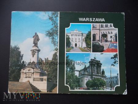 WARSZAWA Krakowskie Przedmieście. Pomnik Adama