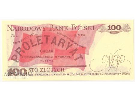 100 złotych 1982 rok seria KT