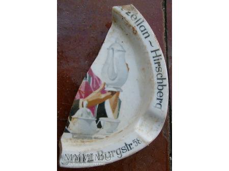 Liegnitz -reklama sklepu z porcelaną