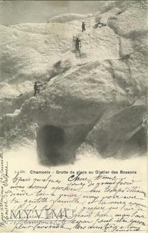 Chamonix - jaskinie w lodowcu - 1904 r.