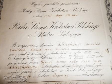 Dokumenty wydane Rada Stanu Królestwa Polskiego