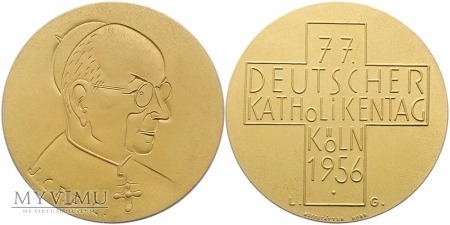 77. Niemiecki Dzień Katolika Kolonia medal 1956