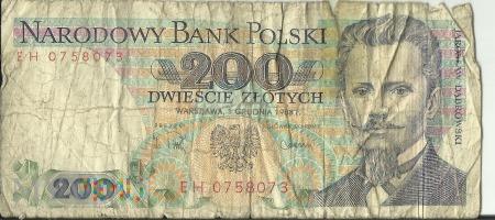 Banknot 200 zł 1 grudnia 1988
