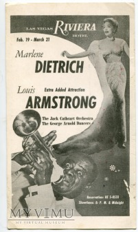 Marlene Dietrich Las Vegas Riviera Hotel Postcard