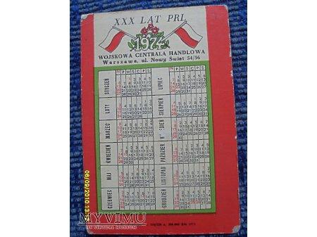 Kalendarzyk z 1974r.
