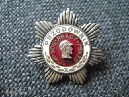 srebrna odznaka Przodownik Pracy Socjalistycznej