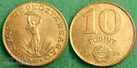 Węgry, 10 Forint 1989