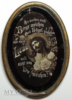 Twarz Jezusa z różami