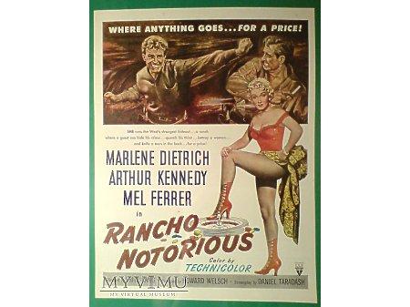 Marlene Dietrich reklama filmu Rancho Notorious